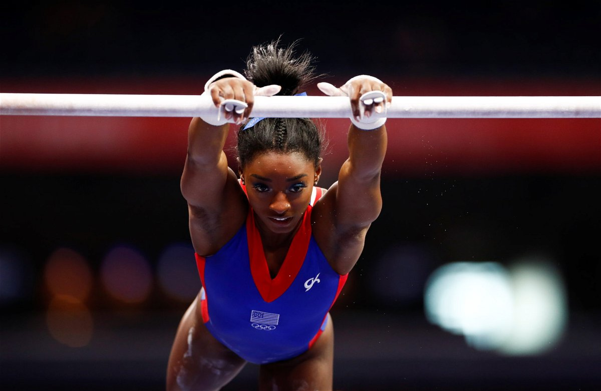 Simone Biles competing at the Rio Olympics