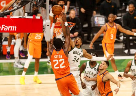 WATCH: Giannis Antetokounmpo Forces Multiple Blocks to Stun the Suns Early in NBA Finals Game 6