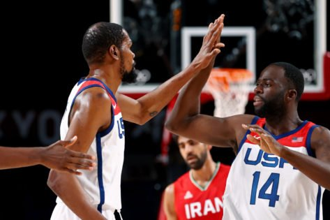 'Even Iran Won't Guard Draymond': Twitter Reacts to Team USA Thrashing Iran in Their Second Game at Tokyo Olympics