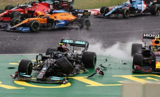 Craziest F1 Race of the Season Sees Ocon Win After Bottas Caused a Massive Pile-Up in Hungary