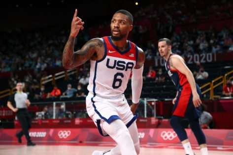 Damian Lillard Gets Brutally Honest While Talking About a Hilarious Incident During Team USA Celebrations