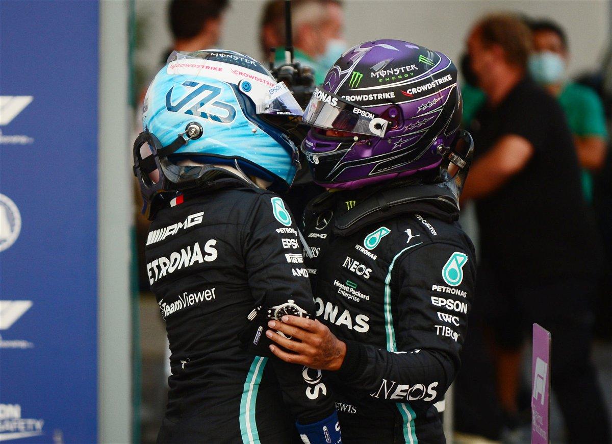 Mercedes F1 duo Valtteri Bottas and Lewis Hamilton