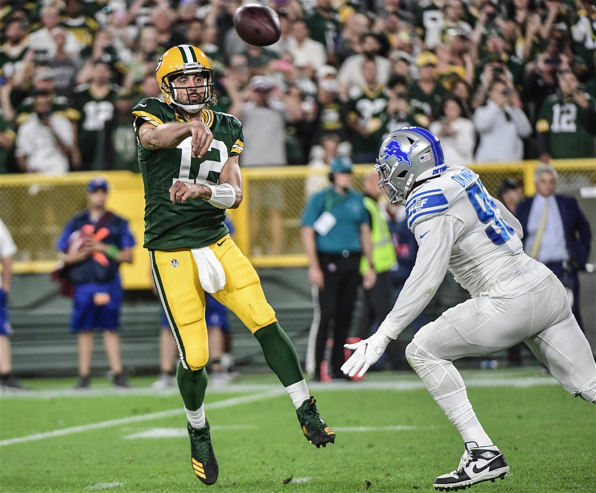 Aaron Rodgers Green Bay Packers against Detroit Lions
