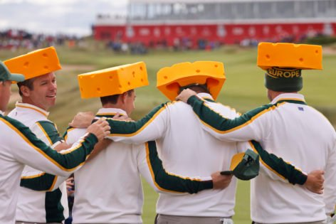 Pictures: Team Europe Pays Tribute to the Green Bay Packers at Ryder Cup