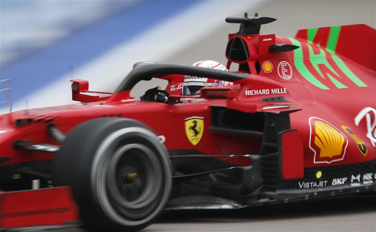Charles Leclerc in a Ferrari