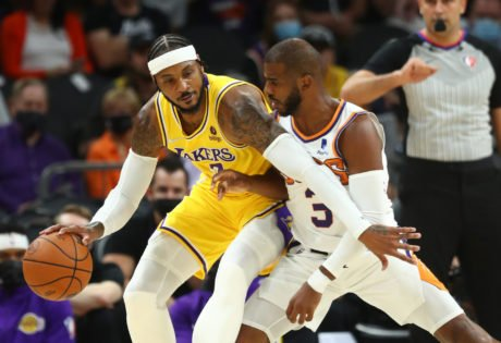 WATCH: Lakers Fans Finally Witness Carmelo Anthony's Iconic 'F**k Outta Here' Rebounds