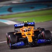 McLaren driver Lando Norris in action during the Abu Dhabi GP