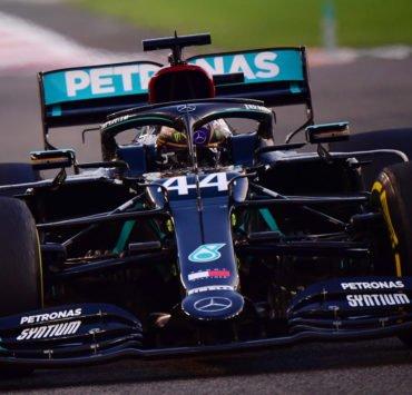 Mercedes driver Lewis Hamilton during the Abu Dhabi GP practice