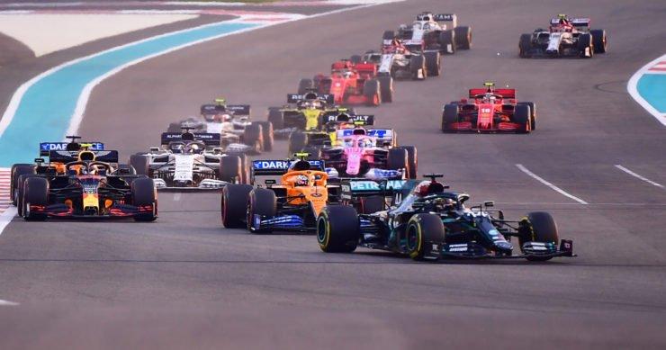 The F1 grid during the Abu Dhabi Grand Prix