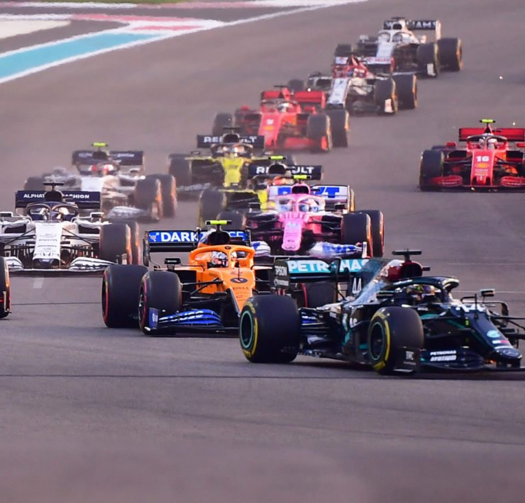 The F1 grid during the Abu Dhabi Grand Prix