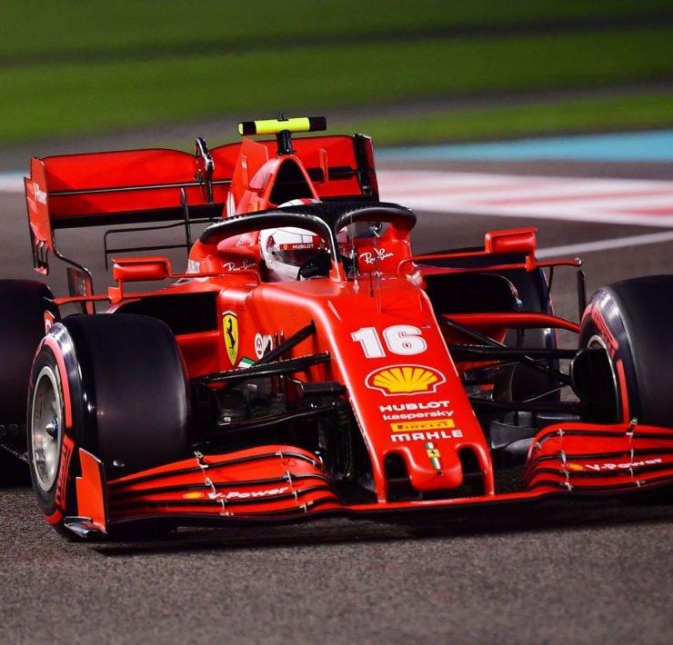 Ferrari driver Charles Leclerc during the Abu Dhabi GP practice
