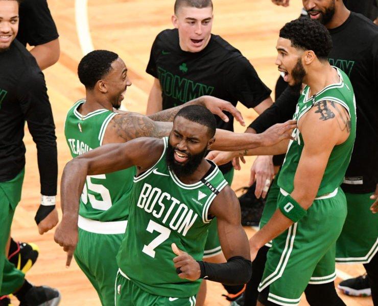 Boston Celtics Jayson Tatum Jaylen Brown