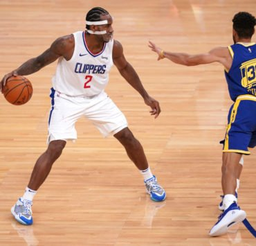 LA Clippers Kawhi Leonard against Golden State Warriors' Stephen Curry