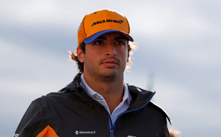 Carlos Sainz prior to the race in Monza