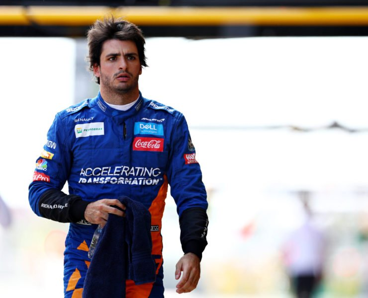 Carlos Sainz during qualifying ahead of the Spanish Grand Prix