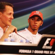 Michael Schumacher during drivers press conference