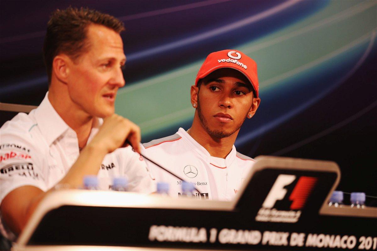 Twitter Blows Up as Ferrari's Michael Schumacher Post Triggers Lewis Hamilton Debate - EssentiallySports