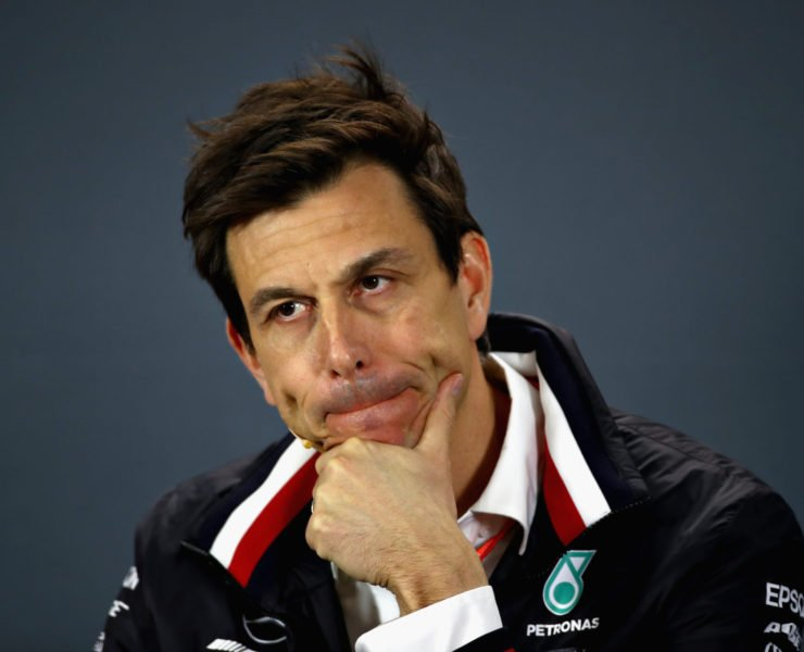 Toto Wolff during a press conference