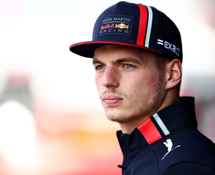 Max Verstappen looks on ahead of the Chinese Gp