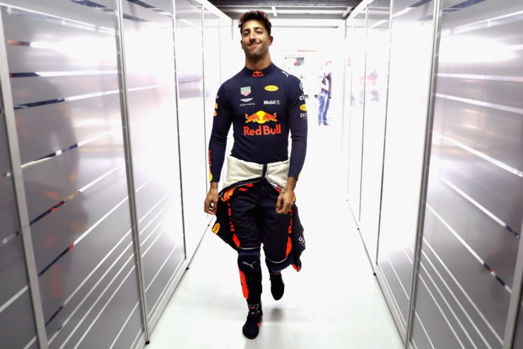 Daniel Ricciardo during the Brazilian Grand Prix