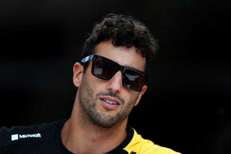 Daniel Ricciardo at the paddock during the Bahrain Grand Prix