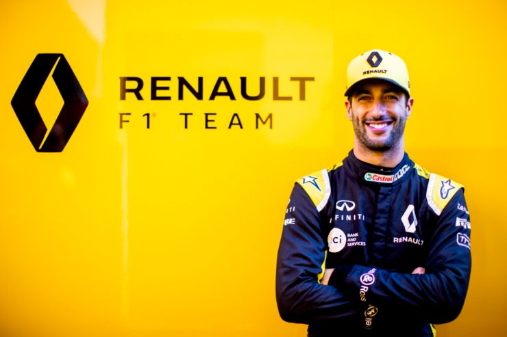 Daniel Ricciardo at F1 Winter Testing in Barcelona
