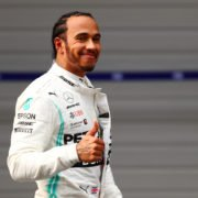 Mercedes' Lewis Hamilton prior to the Chinese Grand Prix race