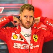 Vettel in the garage before the Hungary Grand Prix