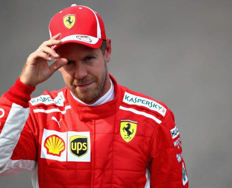Sebastian Vettel during qualifying at Monza