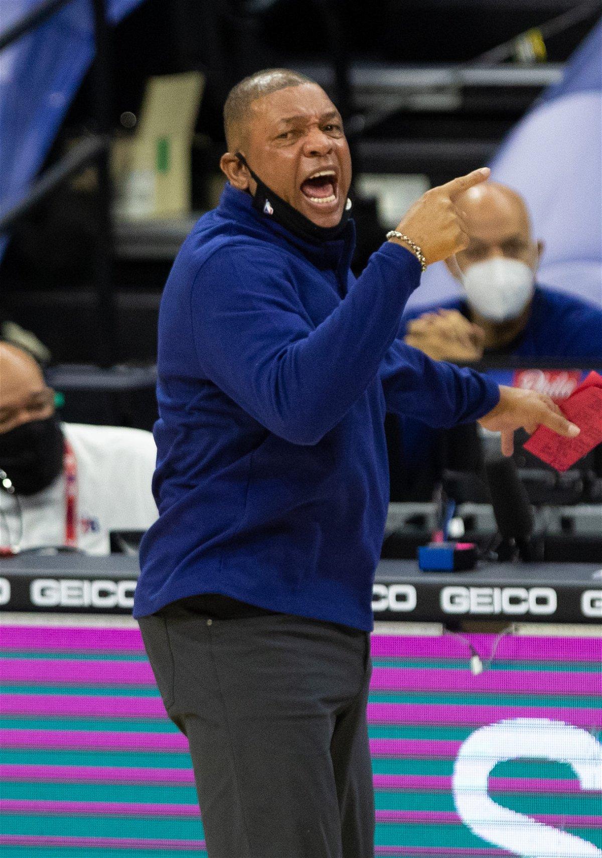 Philadelphia76ers coach Doc Rivers