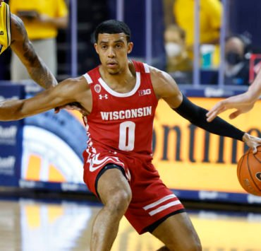 NCAA Men's Basketball: Wisconsin Badgers guard D'Mitrik Trice