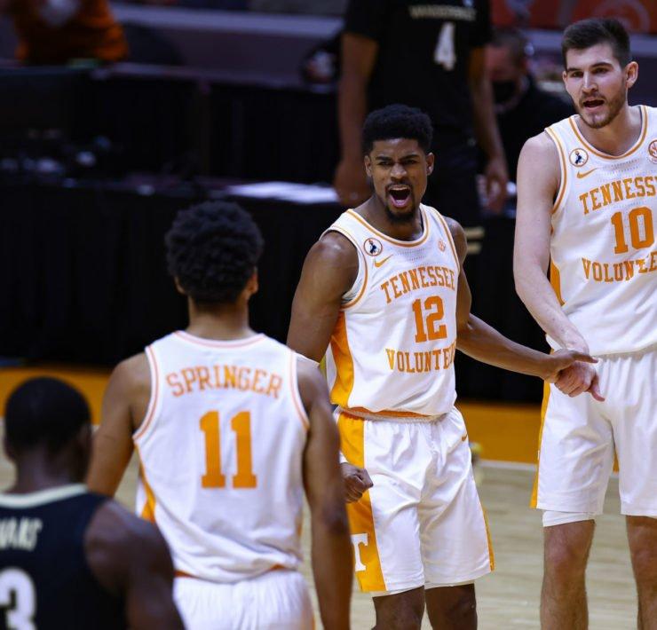 NCAA Men's Basketball: Tennessee Volunteers guard Victor Bailey Jr.