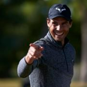Rafael Nadal smiling at Golf Maioris
