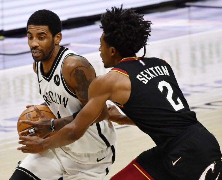 Cleveland Cavaliers Colin Sexton Brooklyn Nets' Kyrie Irving