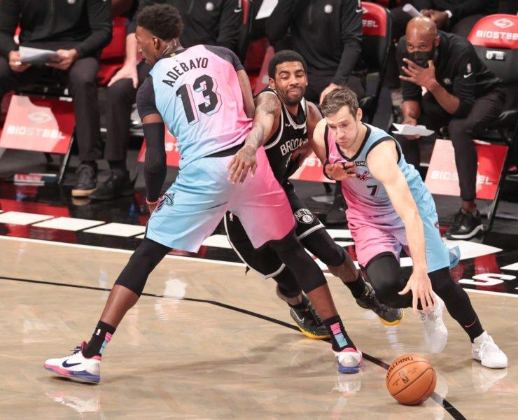 Miami Heat guard Goran Dragic and center Bam Adebayo