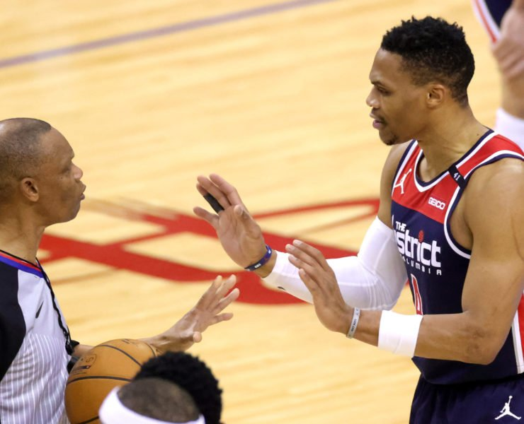 Wizards' Russell Westbrook against Houston Rockets