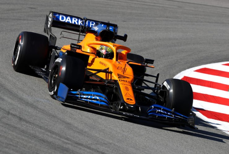 Lando Norris during the F1 winter testing at Circuit de Catalunya