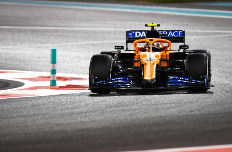 Lando Norris driving the McLaren MCL35