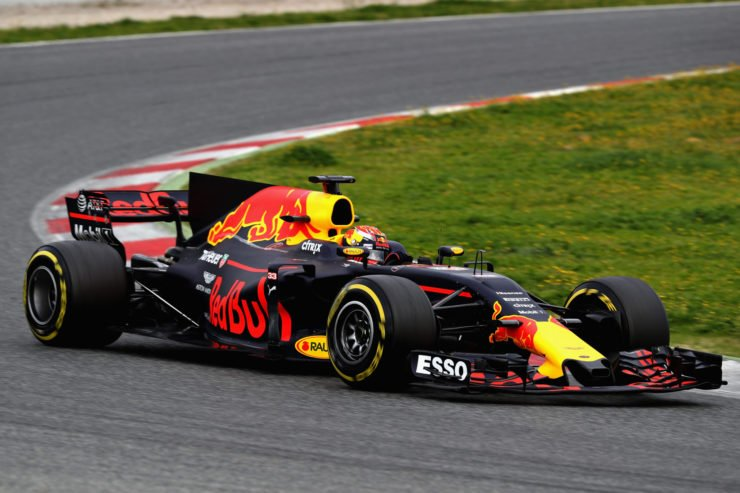 Red Bull driver Max Verstappen during the F1 winter testing in Spain