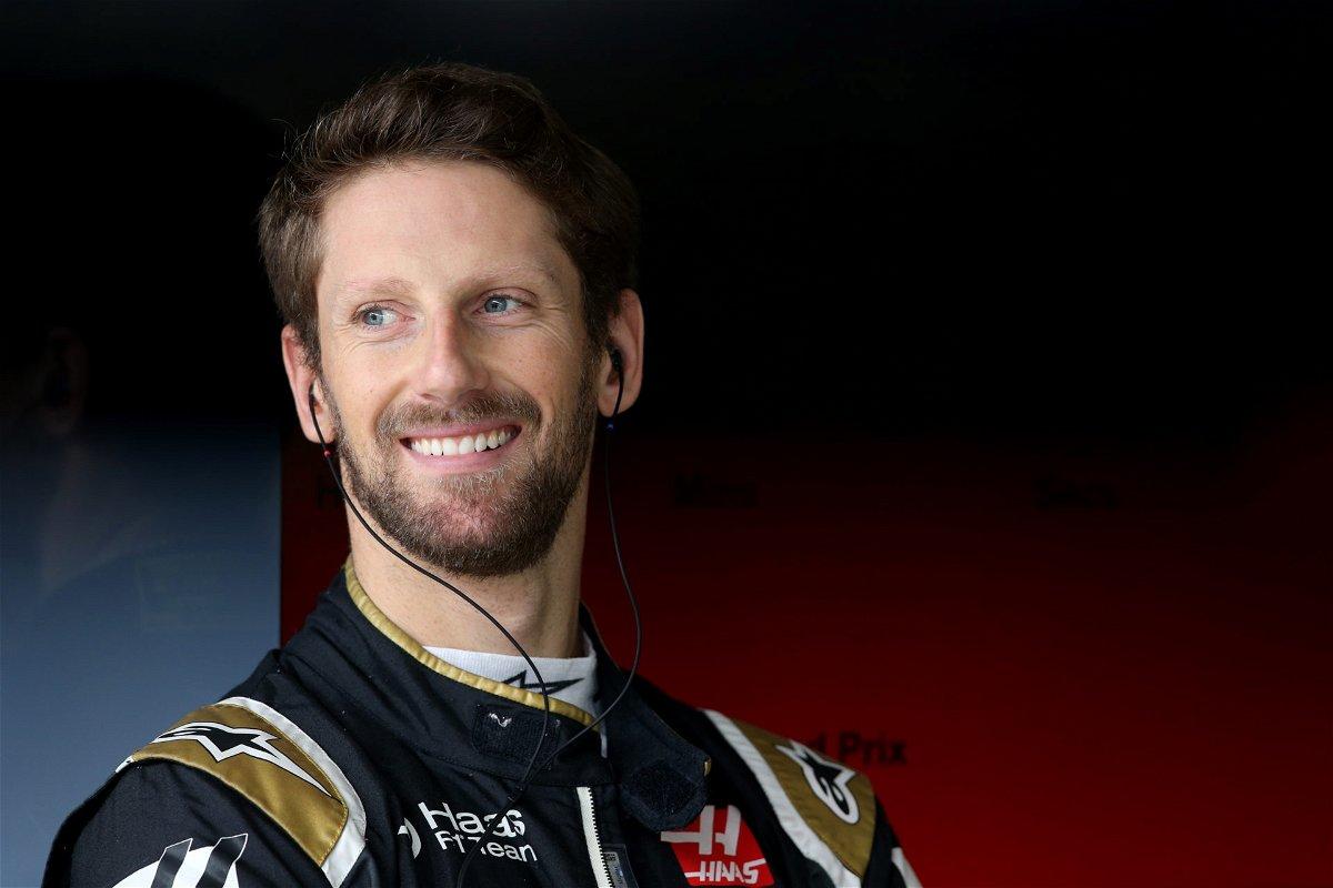 Romain Grosjean is all smiles ahead of the race in Brazil