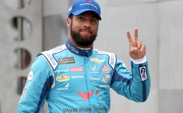 Bubba Wallace prior to the Cup Series race in Indianapolis