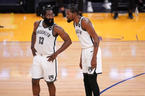 <p>Will Kevin Durant and James Harden Play Tonight? </p>Brooklyn Nets vs New York Knicks -- Team News, Lineups, and Predictions thumbnail