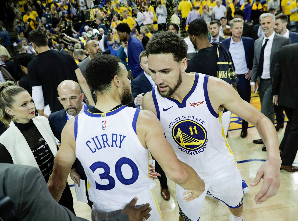 Golden State Warriors Stephen Curry and Klay Thompson