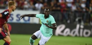 Inter Milan's Romelu Lukaku during the match against Cagliari