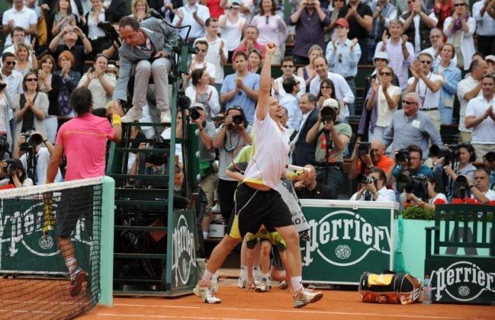 Robin Soderling at Roland Garros