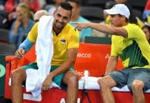 Nick Kyrgios and Lleyton Hewitt