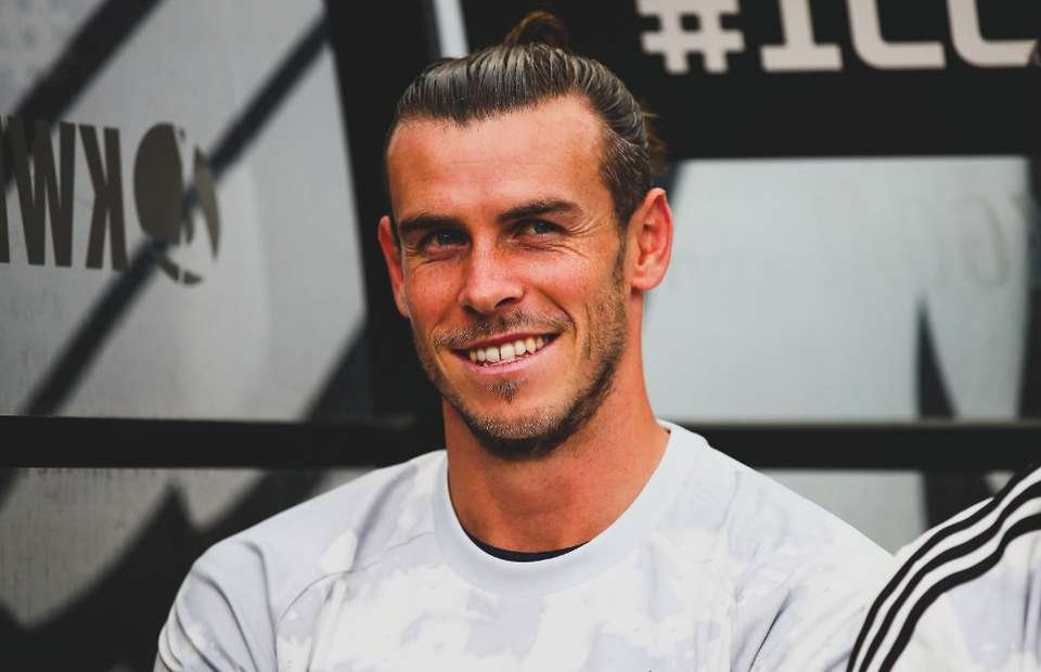Gareth Bale smiling