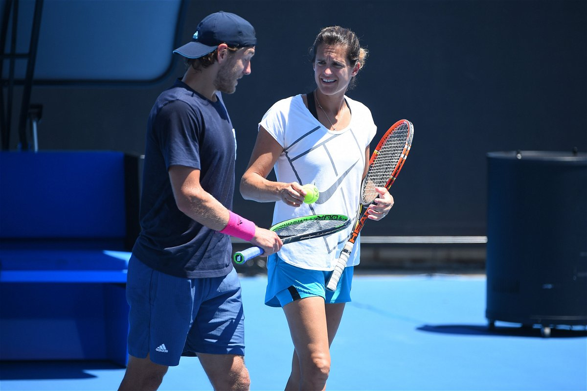 Amelie Mauresmo and Lucas Pouille
