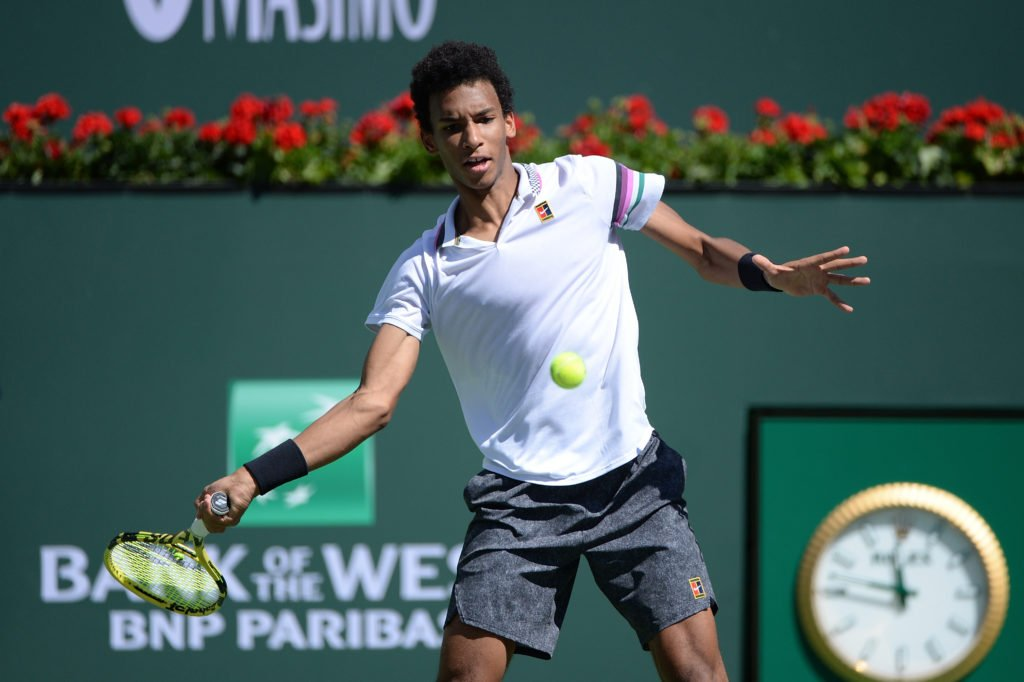 Felix Auger Aliassime at Indian Wells 2019