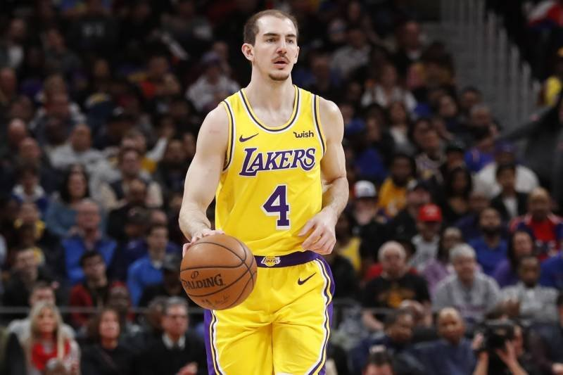 Alex Caruso of Los Angeles Lakers